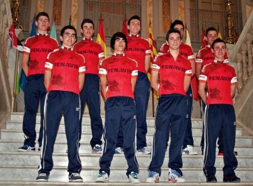 Miembros del equipo ciclista