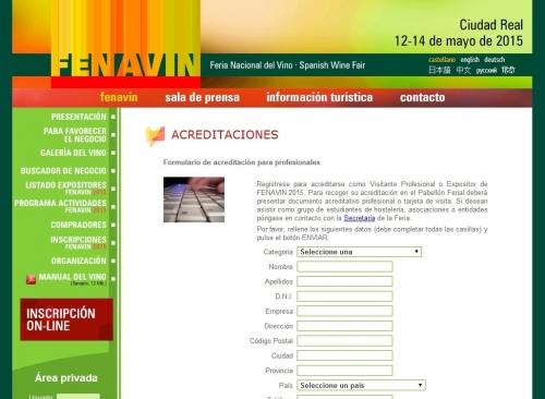FORMULARIO DE ACREDITACIONES PARA PROFESIONALES