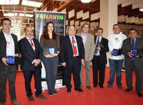 Premiados por la Federación Nacional de Profesionales de Sala en FENAVIN-2013