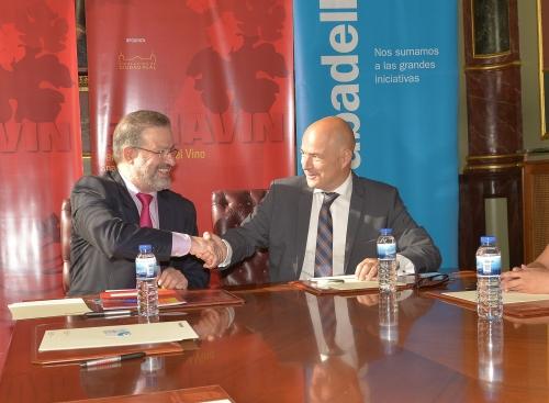 Firma del convenio Fenavin-Sabadell