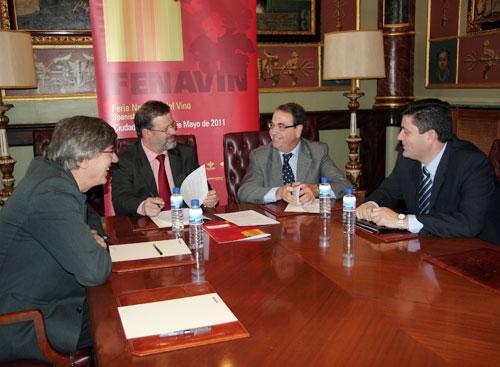 De izquierda a derecha, Ángel Amador, Nemesio de Lara, Luis Francisco Rodríguez y Rafael Morales.