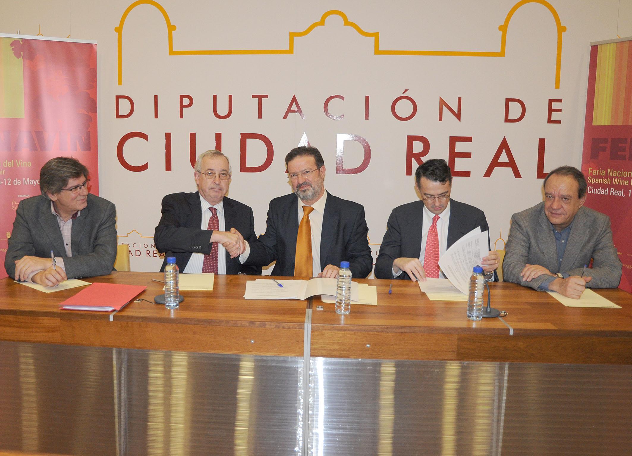De izquierda a derecha, Ángel Amador, Félix Solís, Nemesio de Lara, Pau Roca y Manuel Juliá.