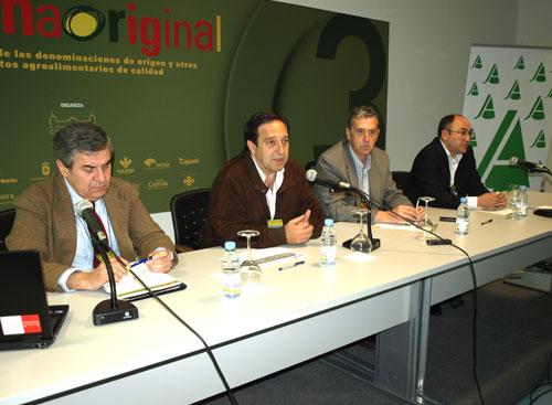 Raúl Rodríguez (i) con Pedro Barato, José Ramón Montoya y Florencio Rodríguez