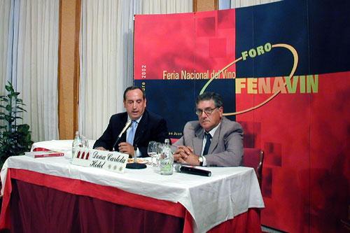 De izquierda a derecha, Vicente Sánchez Migallón y Fructuoso López Vaquero