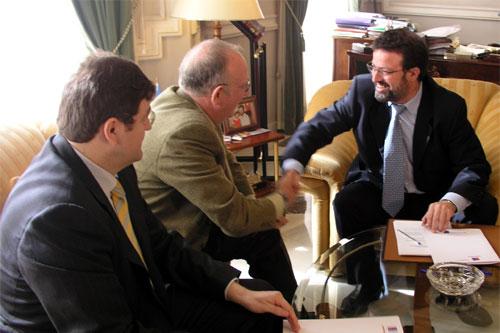 Firma del convenio con la Cámara de Comercio