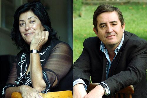 Almudena Grandes y Luis García Montero