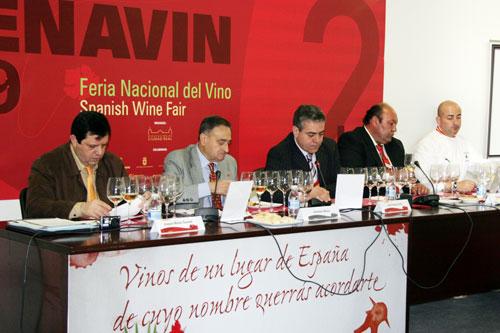 Von links nach rechts: Joaquín Muñoz Coronel, Celedonio Muñoz García, Javier Huertas Muñoz, Ramón Muñoz de Cuerva Sobrino und José Crespo García