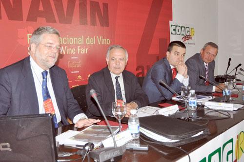 Rafael del Rey, Alfonso Marín, Francisco Martínez und Ángel Villafranca sprachen bei diesem Seminar als Referenten